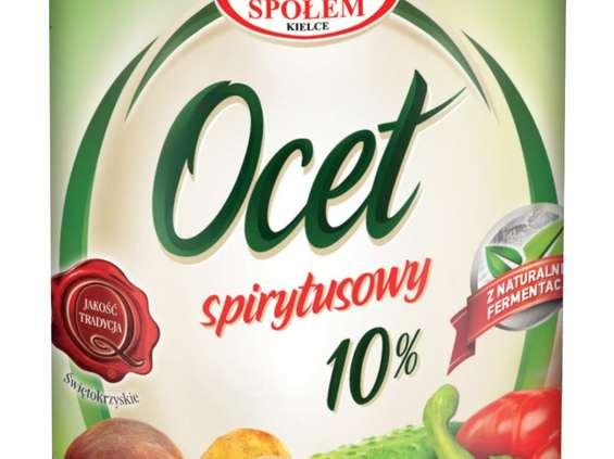 WSP Społem. Ocet spirytusowy 10% i jego wersje smakowe