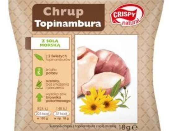 Crispy Natural. Suszone chipsy z topinamburu z solą morską