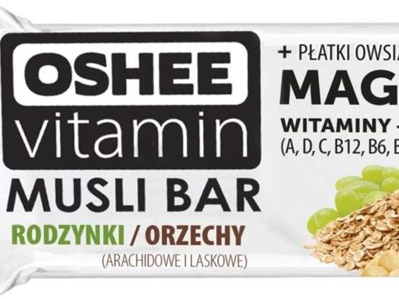 Oshee promuje batony Musli Bar oraz ciasteczka Breakfast Cookies