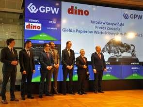 Spółka Dino Polska z rozmachem zadebiutowała na giełdzie