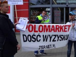 Protesty w sieci Polomarket - padają poważne zarzuty