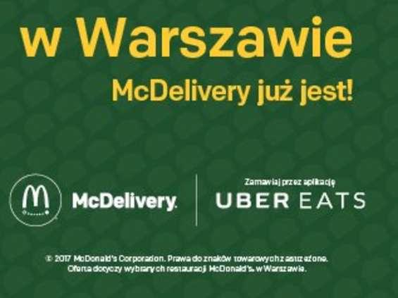 McDonald's na wynos, z Uberem