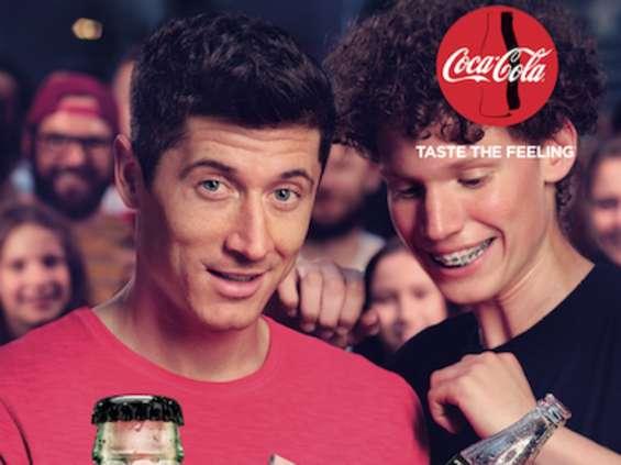 Robert Lewandowski w kampanii Coca-Coli Zero Cukru