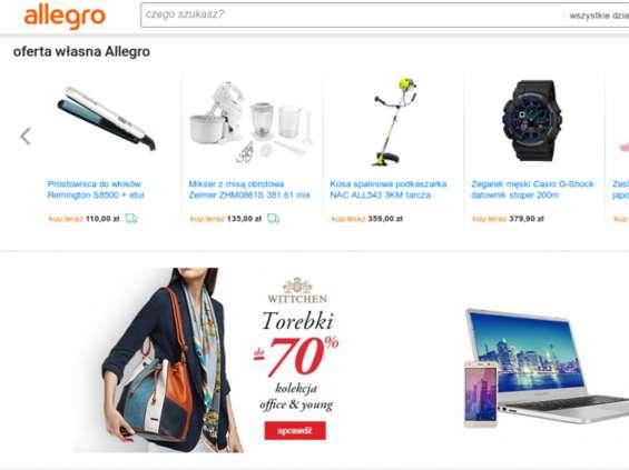 Spada sprzedaż e-sklepów przez Allegro
