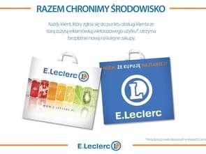 E.Leclerc promuje torby wielokrotnego użytku