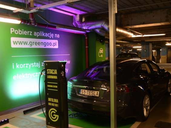 Galeria Katowicka z punktem ładowania samochodów elektrycznych