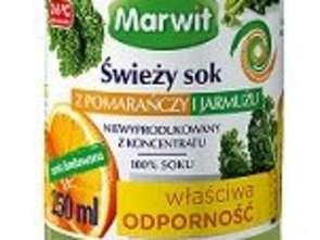 Marwit. Świeży sok z pomarańczy i jarmużu