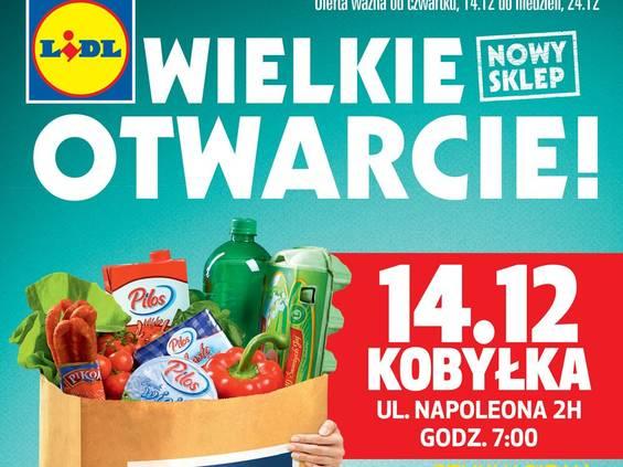 Kolejny nowy Lidl - teraz w Kobyłce