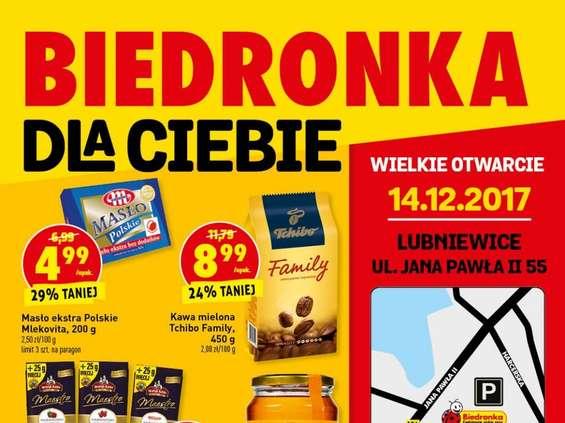 Taniej w Biedronce w Lubniewicach