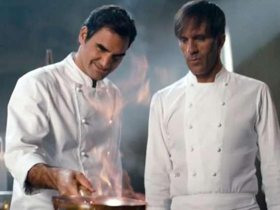 Roger Federer w kampanii Barilli