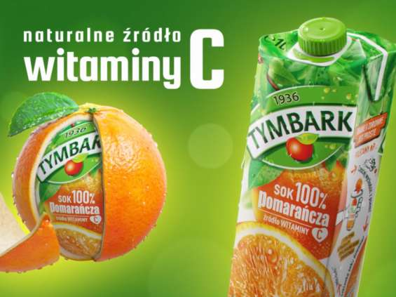 Gdzie są pomarańcze? Naturalnie, w sokach Tymbark!