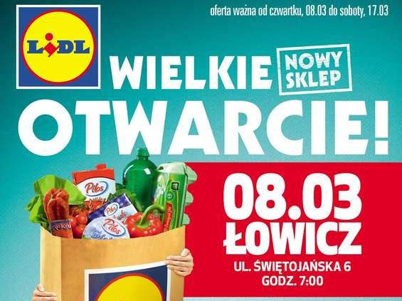 Lidl po raz pierwszy w Łowiczu i w Bielanach Wrocławskich