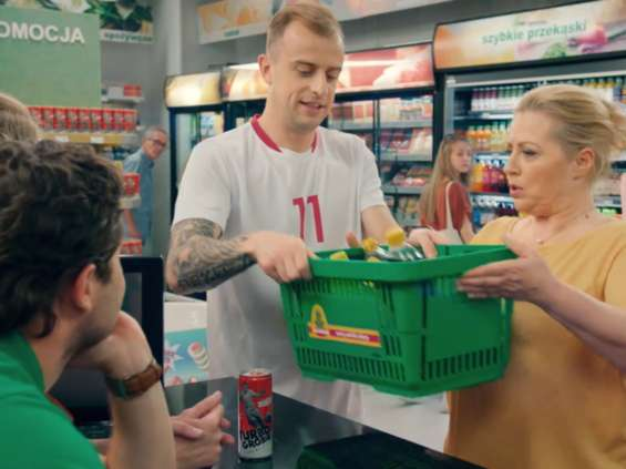 Kamil Grosicki w reklamie Żabki