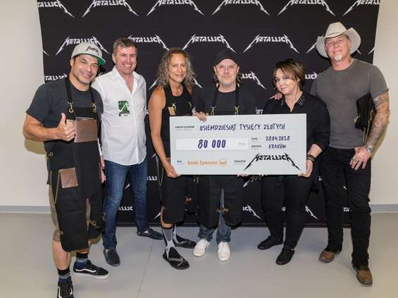 Metallica wsparła Banki Żywności