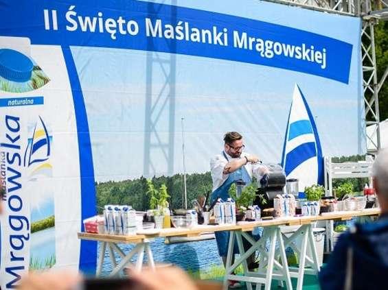 Mlekpol rozdał prawie 700 litrów Maślanki Mrągowskiej