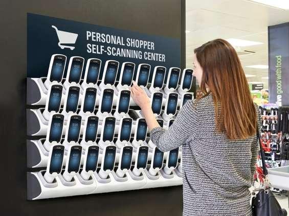 Skanowanie towarów na bieżąco podczas robienia zakupów