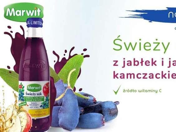 Marwit. Świeży sok z jabłek i jagody kamczackiej