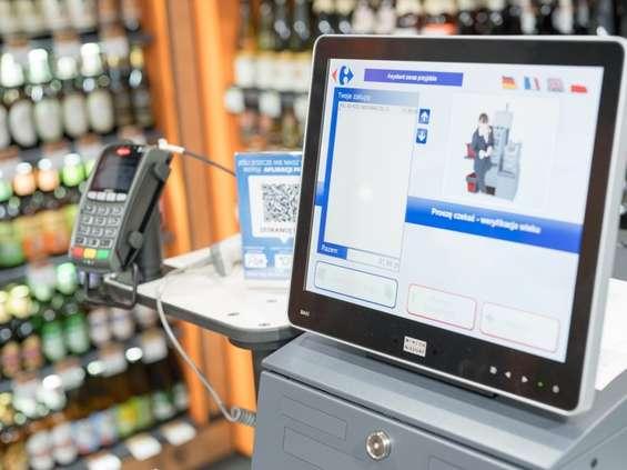 Kasy samoobsługowe w sklepach Carrefour Express