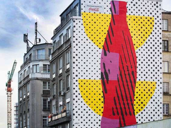 Coca-Cola na praskim muralu