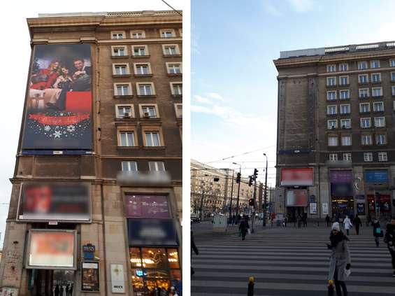 """Warszawa """"oczyszczona"""" z nielegalnych reklam"""