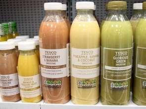 Soki i smoothie Tesco w przyjaznych środowisku opakowaniach