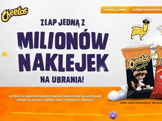 Cheetos z naklejkową loterią