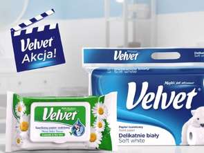 Velvet wspiera reklamowo papier toaletowy