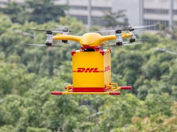 DHL Express dostarczy towar dronem