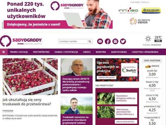 SadyOgrody.pl z rekordową liczbą użytkowników