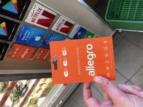 Karta podarunkowa Allegro dostępna w sklepach Żabka