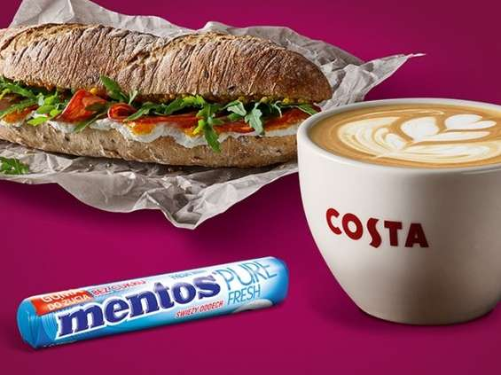 Mentos Pure Fresh w Costa Coffee