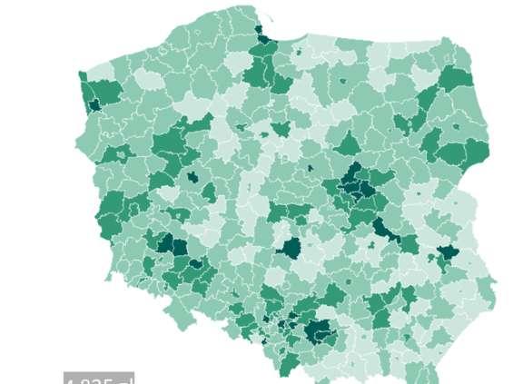 W Warszawie nie zarabia się najwięcej