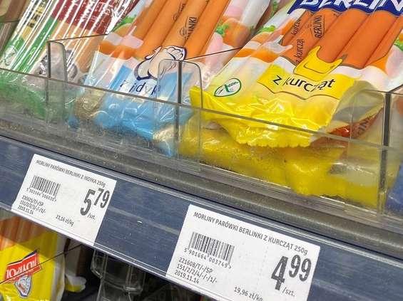 Parówki w sklepach coraz droższe