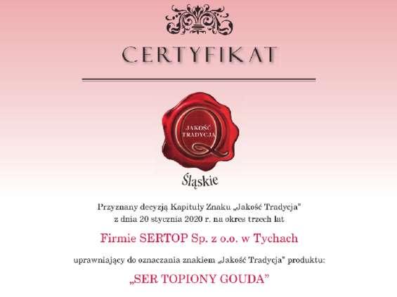 Sertop z certyfikatami jakości