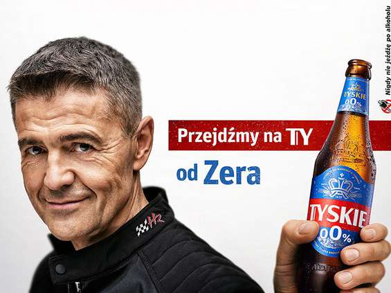Krzysztof Hołowczyc ambasadorem Tyskiego 0,0%