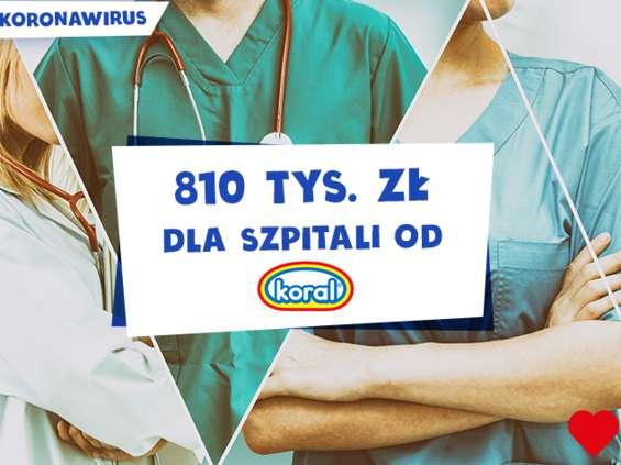Koral przekazuje 810 tys. zł na walkę z koronawirusem!