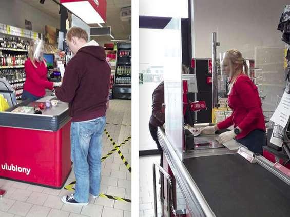 Polomarket wyposażył pracowników w przyłbice ochronne
