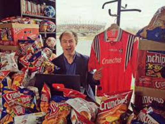 Dziennikarze sportowi reklamują markę Crunchips