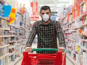 Mówił, że ma koronawirusa. Nie zapłacił za zakupy