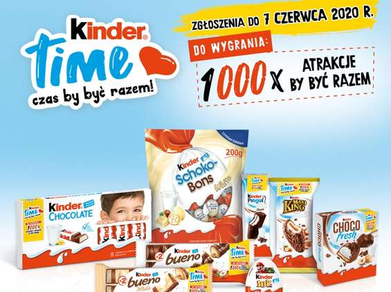 Trwa Loteria Kinder Time!