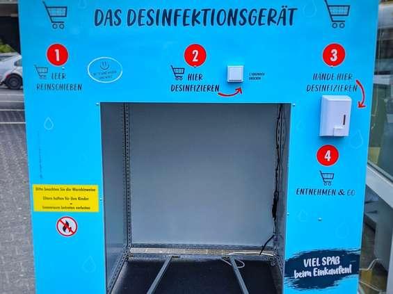 Koronawirus inspiruje powstawanie myjni wózków sklepowych