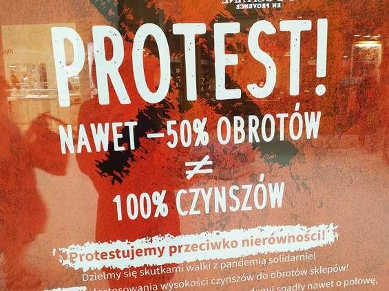 Protest najemców Galerii Północnej [OPIS, GALERIA]