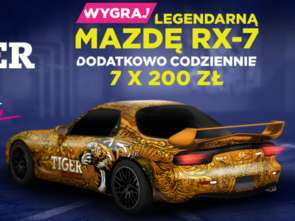 Tiger Energy Drink oddaje unikalną Mazdę RX-7