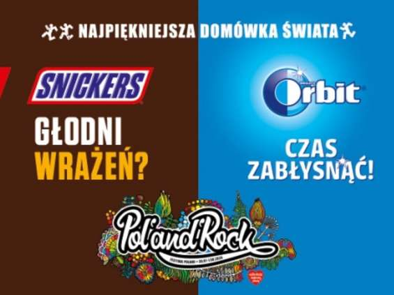 Orbit i Snickers sponsorami 26. Pol'and'Rock Festival