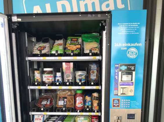 Aldi testuje automat vendingowy