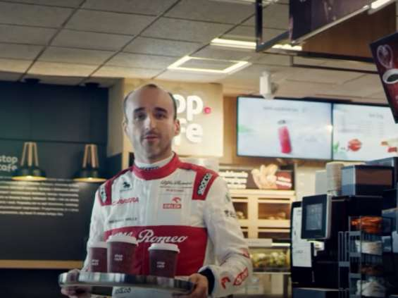 Kubica zaprasza na kawę na Orlen
