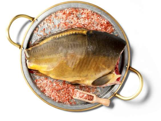 Kaufland rybami stoi