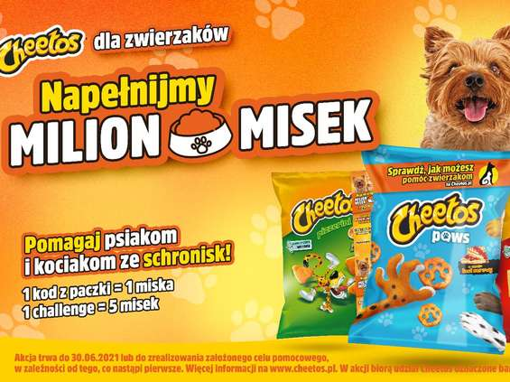Cheetos pomaga zwierzakom