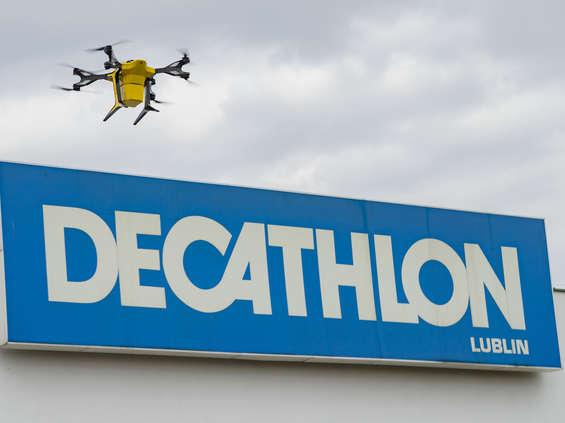 Drony w Decathlonie: ruszają testy