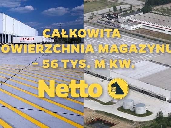 Konsolidacja Tesco i Netto wchodzi w fazę logistyki